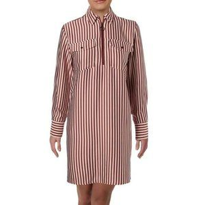 Kenneth Cole S Rose Brown Stripe Dress NWT AW85